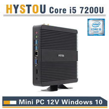 hystou mini pc fmp11 core i5 7200u small pc fanless design windows 10 compatible mini pc linux hdmi powerful gaming pc mini size