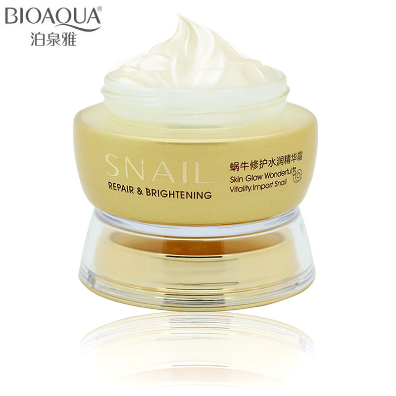 Professional Skin Care Brand BIOAQUA Snail Deep Moisturizing Face Cream Hydrating Anti Wrinkle Anti-Aging Whitening Day Cream snail extract cream skin care cosmetics laikou 5pcs set whitening moisturizing anti aging anti wrinkle moisturizing face care