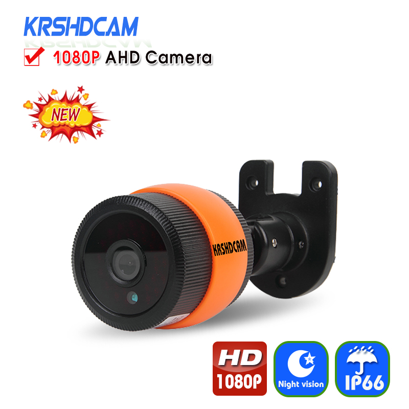 KRSHDCAM Full HD 1080P AHD Camera Bullet Outdoor Security CCTV 3.6mm lens Night Vision Waterproof IP66 Home Video Surveillance new 2mp hd 1080p ahd security camera cctv white metal mini bullet video surveillance waterproof ir night vision vandal proof