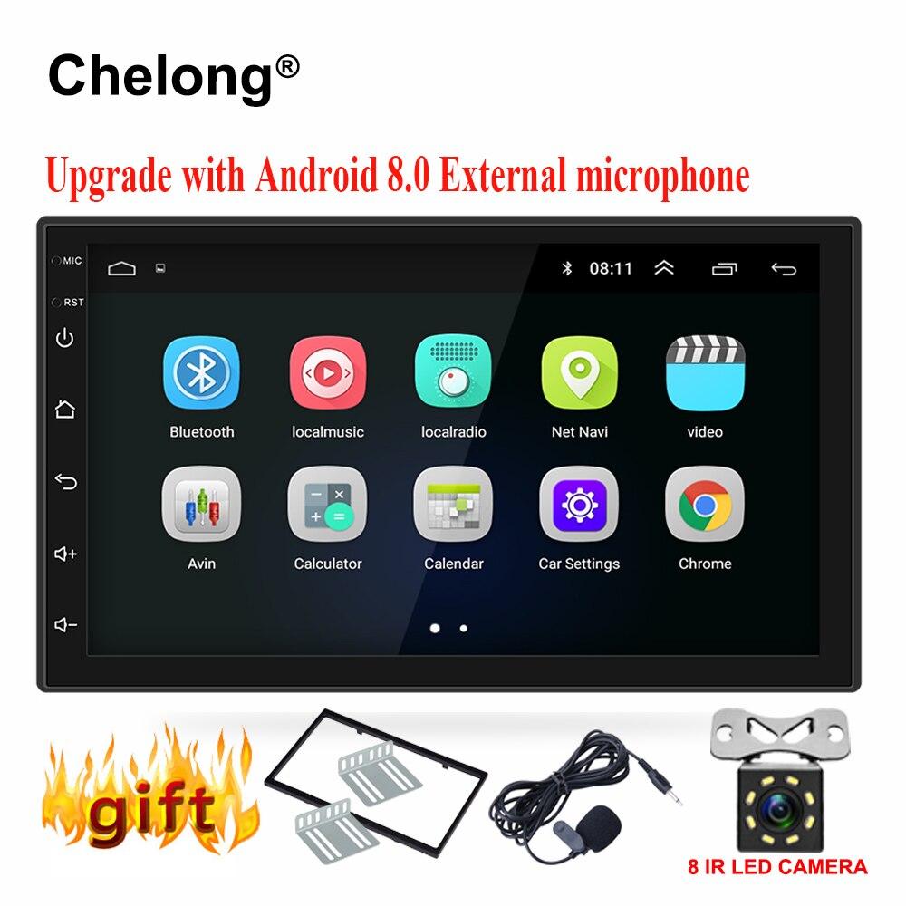 Android 8,0 универсальный автомобильный Радио 7 2 din Автомагнитолы gps android 2din dvd-плеер gps навигации WI-FI Bluetooth MP5 плеер