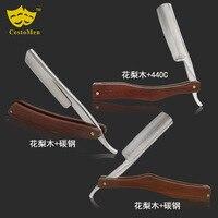 Vintage Manual Razor Shaving Knife Haircut Hair Razor Manual double sided Stainless Steel Razor G0513