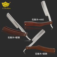Vintage Manual Razor Shaving Knife Haircut Hair Razor Manual double sided Stainless Steel Razor G0513