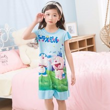 Kids Party Princess Nightgown New WAVMIT 2018 Children Clothing 3D Print Summer Dresses Girls Baby Cotton Girl Sleepwear Home