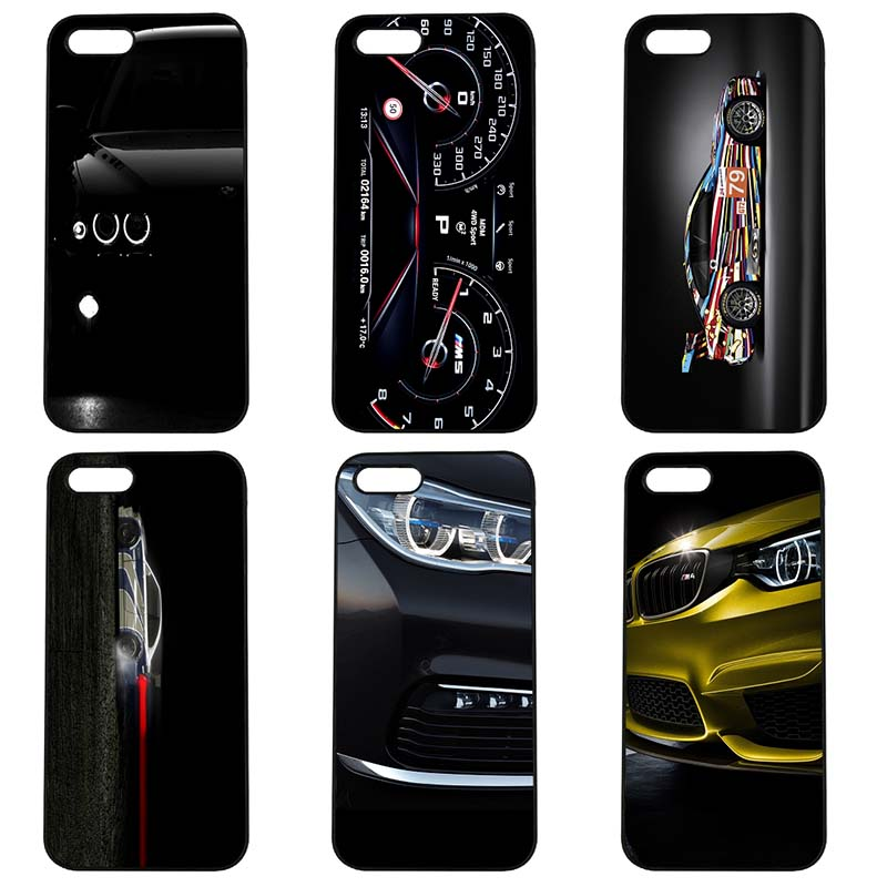 For BMW Car Logo Printed Mobile Phone Case Hard Cover Fitted for Apple iphone 8 7 6 6S Plus X 5S 5C 5 SE iPod Touch 4 5 6 Shell