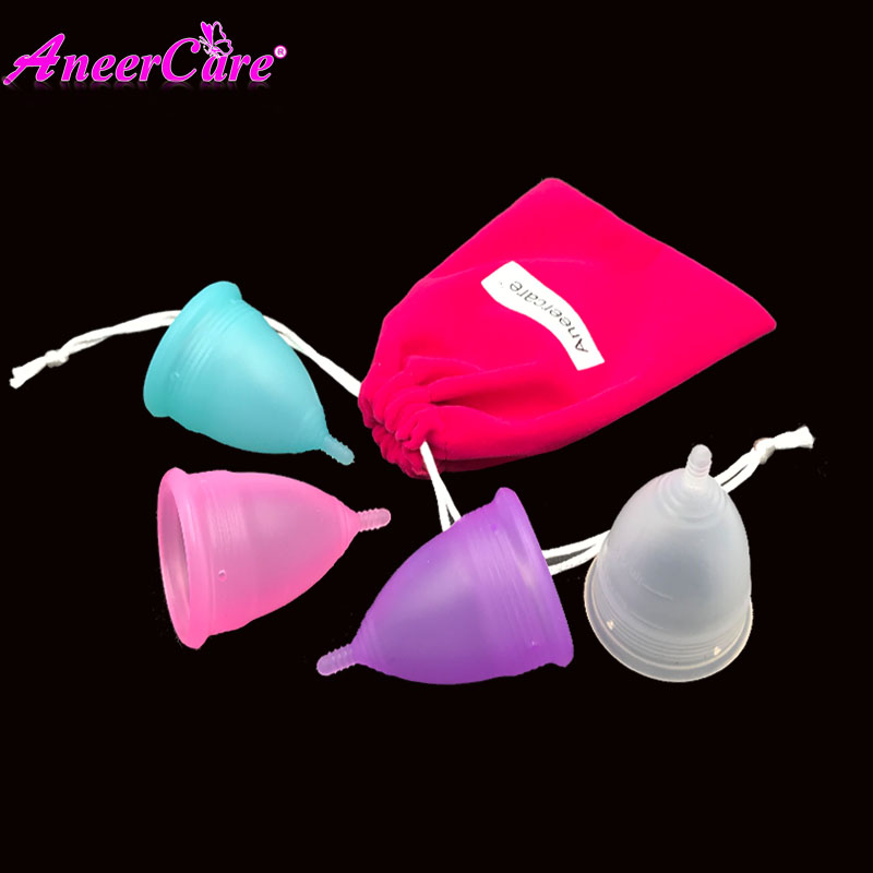купить 100% Medical Grade Silicone Aneercare Menstrual Cup Copa Menstrual Copa Menstrual De Silicona Medica Feminine Hygiene недорого