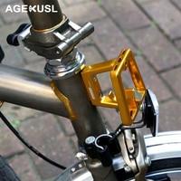 AGEKUSL Bicycle Bag Racks For Brompton Bike Bicycle Bag Cargo Rack Front Carrier Block CNC 57g Super Light Bike Part Accessories
