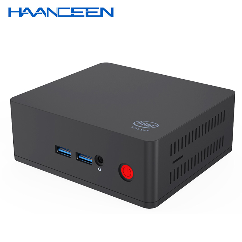 Windows 10 Mini PC AP35 Intel Celeron J3355 Up To 2.5Ghz 4GB/64GB Dual HDMI Output 5.8Ghz WiFi USB 3.0 Win10 Computer 4K HTPC