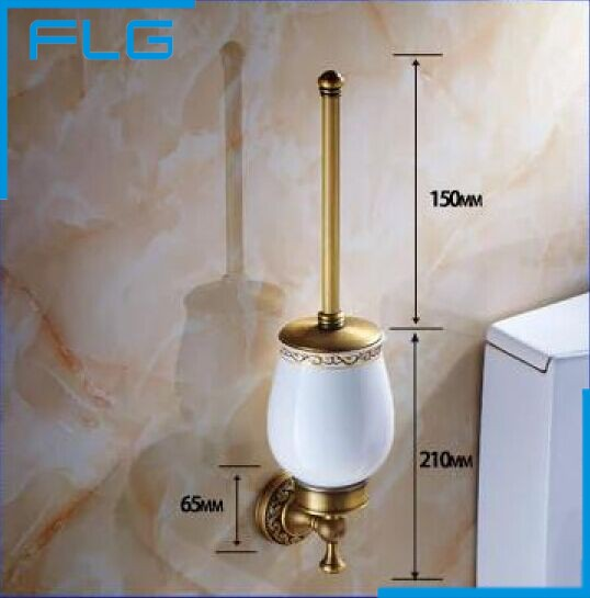 ФОТО Luxury  Toilet Bbrush Holder with Ceramic Cup/ Household Products Bath Decoration Bathroom Accessories
