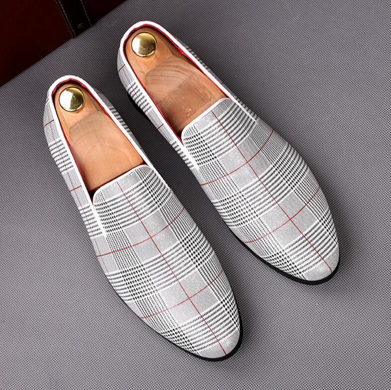 À De Hommes Bbgre silver En Mode 2018 Mocassins Cuir Appartements Damier La Casual Chaussures Luxe Main waHnqI4