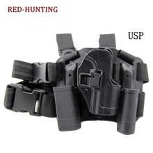 Quick Drop Tactical Gun Holster Military Airsoft Gun Hunting Pistol Leg Holster HK USP Right Hand Holster(China)