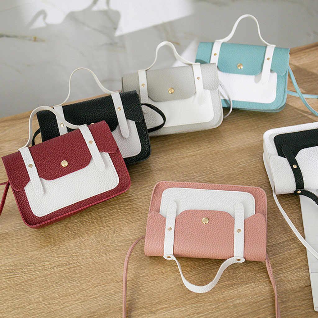 Moda Ferrolho Cor Hit Pequeno Quadrado Bolsa Feminina Crossbody Bag Bolsas De Couro Das Mulheres bolsa feminina
