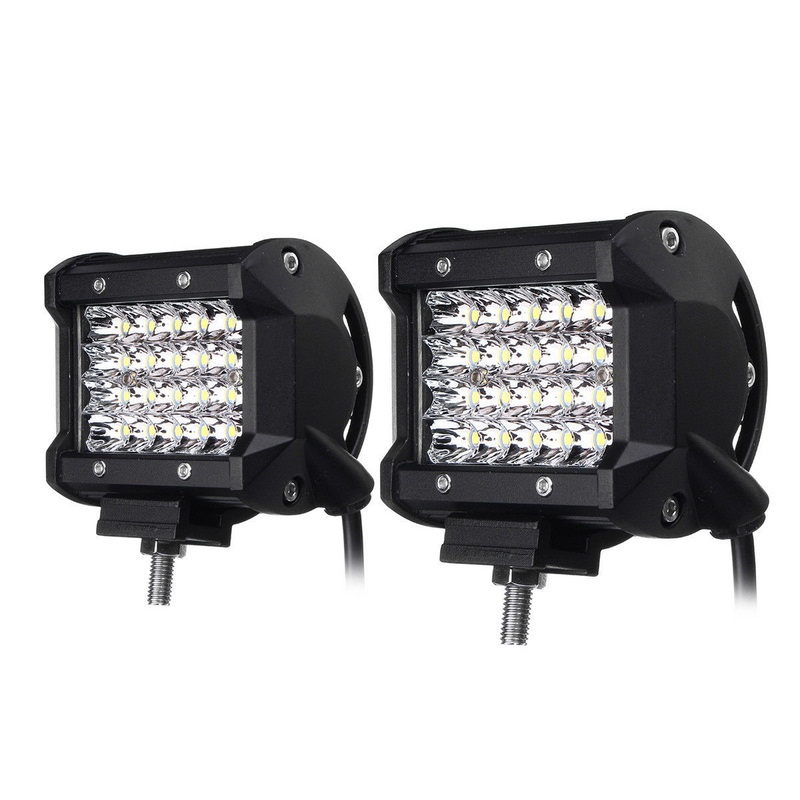 2PCS Foggy Lights 240W Car Fog Lights IP68 Waterproof Auto Back Light LED Driving Work Light