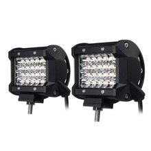 2PCS Foggy Lights 240W Car Fog Lights IP68 Waterproof Auto Back Light LED Driving Work Light White 24PCS LED Chips Spotlight