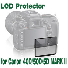 SMILYOU Professional LCD Optical Glass Screen Protector for Canon 40D 50D 5DII Compact Glass Protective Film