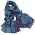 100% real cetim de seda lenços pashminas cor azul escuro dupla face pura e acessórios hijab lenço de pashmina Xales festa formal