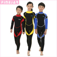 2 5MM Neoprene Wetsuits Kids Swimwears Diving Suits Long Sleeves Boys Girls Surfing Children Rash Guards
