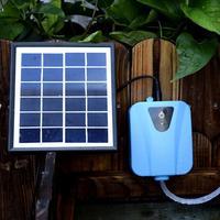 Panel Fish Tank Air Pump Pond Solar Powered Outdoor Water Oxygenator Garden