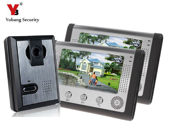 Yobang Security 7 LCD Monitor Speakerphone Door Intercom Color Video Door Phone Doorbell Access Control System IR doorphone