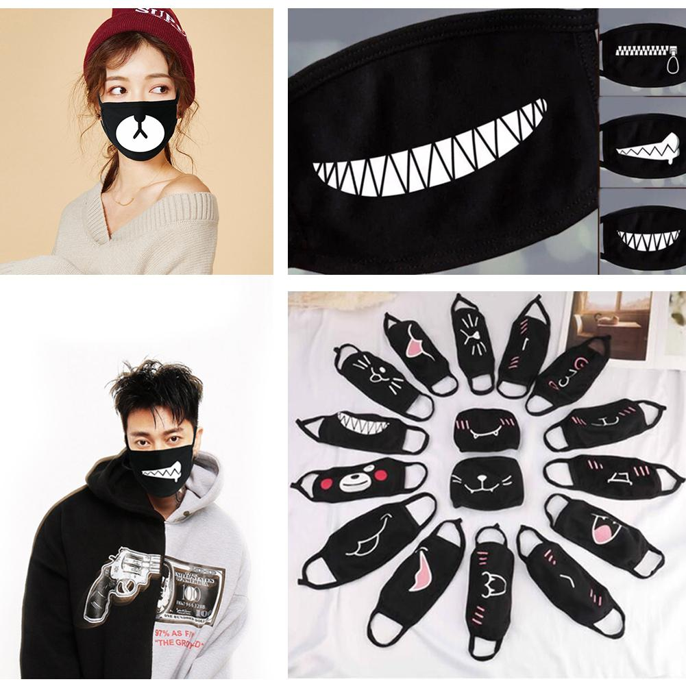 Funny Facial Mask Mouth Cotton Unisex Dustproof Mouth Face Mask Anime Cartoon Women Men Muzzle Face Mouth Party Masks