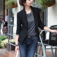 Black Slim Fitness Blazers Suits Women Formal Jackets Office