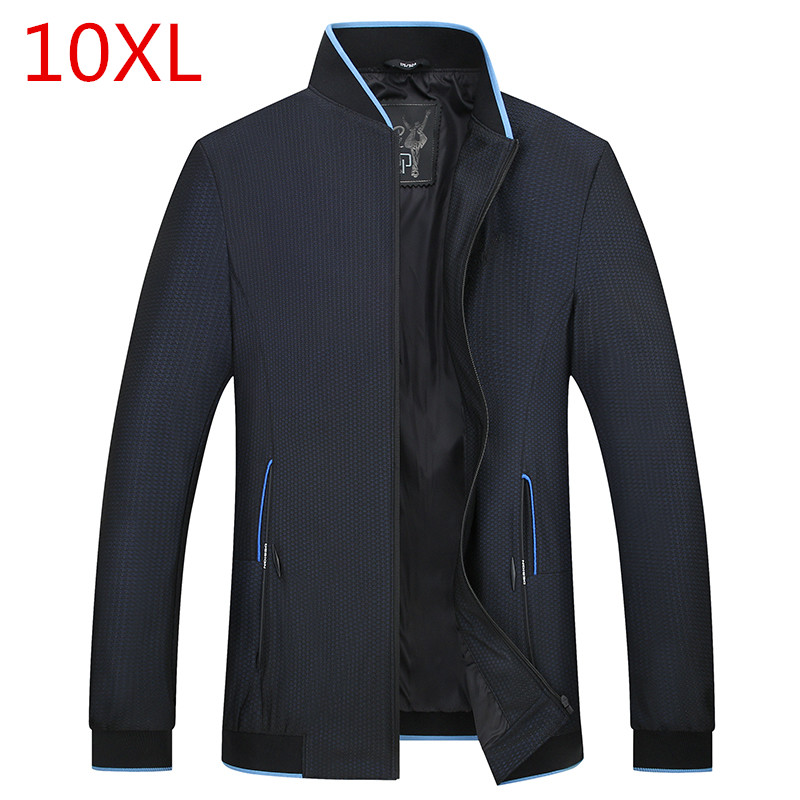 Spring jacket Large size mens clothing Add fertilizer to increase Thin section jacket Mens business casual big size jacket