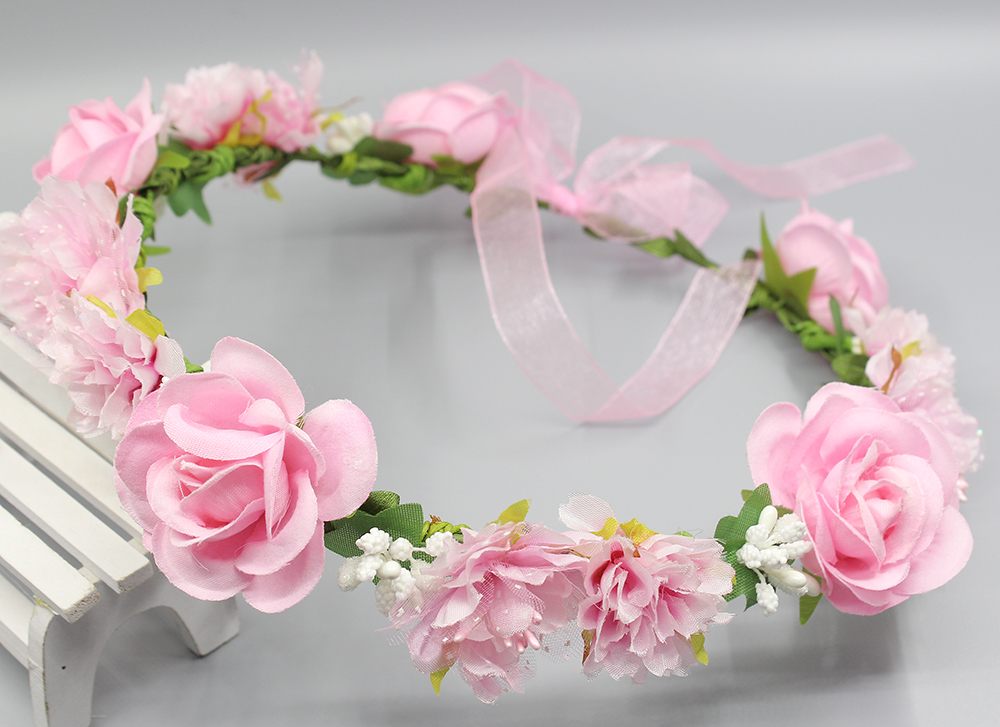 Summer Wedding Floral Crown Head Band Floral Head Wreath