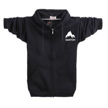 Burton Hooded Coat Male Streetwear Hip Hop Long Hoodies Clothing Men Outerwear Cool Man Tracksuit Sweatshirt RAA0529