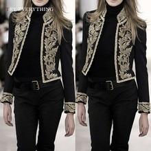 цена Black Blazer Women Short Print Blazers Womens Long Sleeve Short Blazer Ladies Jackets And Blazers Female Coat Woman Blazer 2019 онлайн в 2017 году
