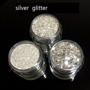 Image 3 - 10Ml Glitter Fine 0.1/0.2.0.4 Metallicเงินเครื่องสำอางGlitterผงสำหรับเทศกาลแต่งหน้าความงามFace Bodyผมเล็บ