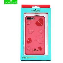 Для iPhone 7 3D моды в форме сердца Дизайн задняя крышка для iPhone 7/7 Plus чехол Натуральная кожа сзади крышка Роскошный чехол