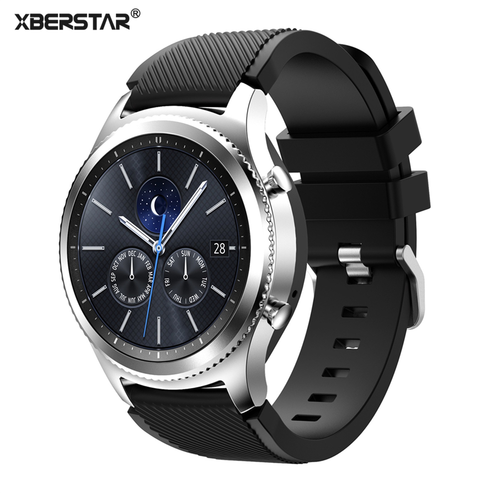 22mm Sports Silicone Watch Bands Strap for Samsung Galaxy Gear S3 Classic SM-R770 S3 Frontier SM-R760 SM-R765 Smart Watch