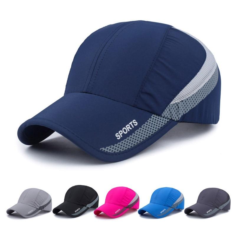 Prix pour 2017 Unisexe casquettes de baseball moto de golf parcours de chapeau à séchage rapide hommes femmes casual chapeau d'été