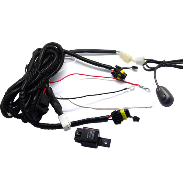 Car Fog Lamp Universal Switch and Wire Kits for Buying Angel Eyes Fog Lights