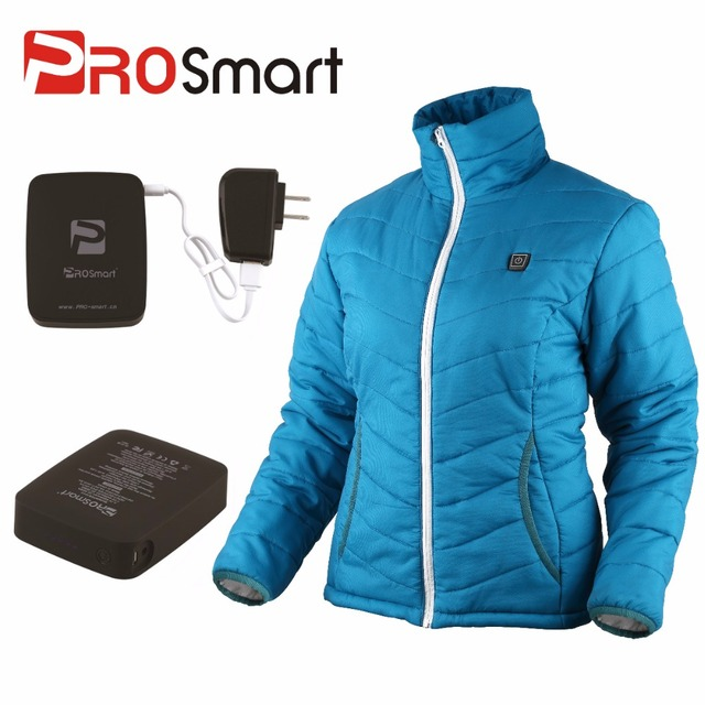 0194ce05d US $109.9 |PROsmart Winter Women's Battery Heated Down Jacket Heated Coat  Quickly Heat Up 3 Temp. Settings Free Shipping (Battery Included)-in Basic  ...