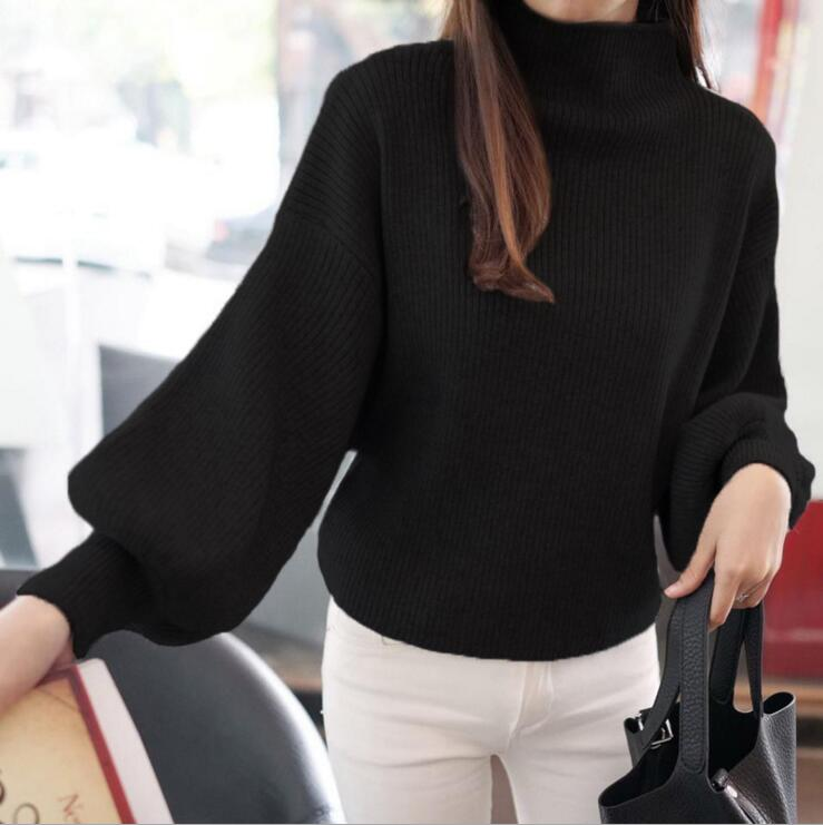 2019 New Women's Coarse Wool Sweater Warm Spring Autumn Winter Casual Sleeved Pullover