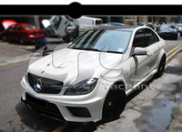 FRP Fiber Glass In Portion Carbon Fiber Black Series Style Wider Body Kit Fit For 2012