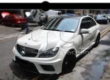 ИЗ АРМИРОВАННЫХ Стекловолокном в Части Углеродного Волокна Черный Стиль Серии Шире Body Kit, Пригодный Для 2012-2013 Mercedes Benz W204 C63 AMG Седан