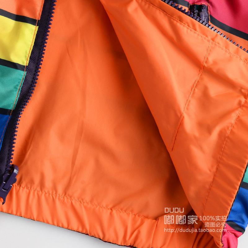 Yeni moda hər iki tərəf rəngli rəngli zolaqlar geyir, uşaqlar - Uşaq geyimləri - Fotoqrafiya 5