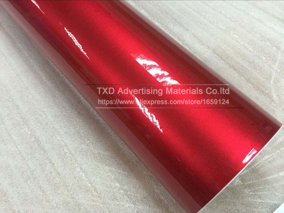 Image 5 - Premium quality 10/20/30/40/50/60X152CM/Lot Red Metallic Glossy Glitter Wrap Sticker for car wraps Glossy Candy Gold Vinyl Film-in Car Stickers from Automobiles & Motorcycles
