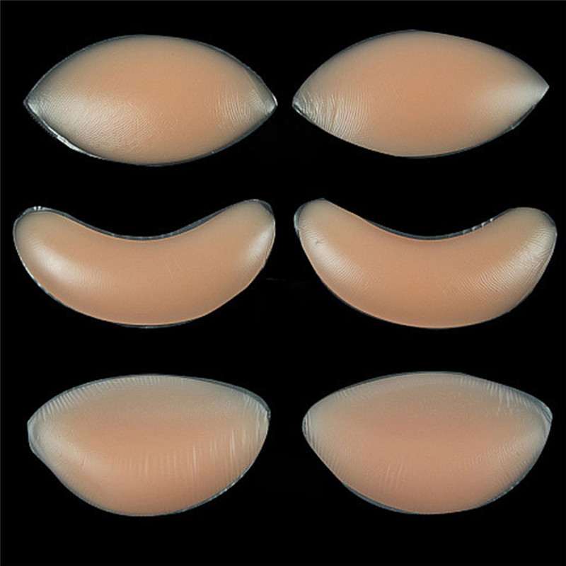 Women Silicone Sexy Bra Insert Breast Enhancer Inserts For Dress Bikini Swimsuit Gel Invisible Inserts Breast Pads Push Up Bra