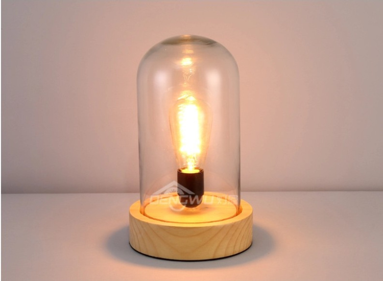 New  Vintage antique Desk Lamp Wood Personalized Table Lamp With Glass Shade for Bedroom Living Room new 2017 modern table lamps metal personalized desk lamp with glass shade for beside home decor for bedroom living room