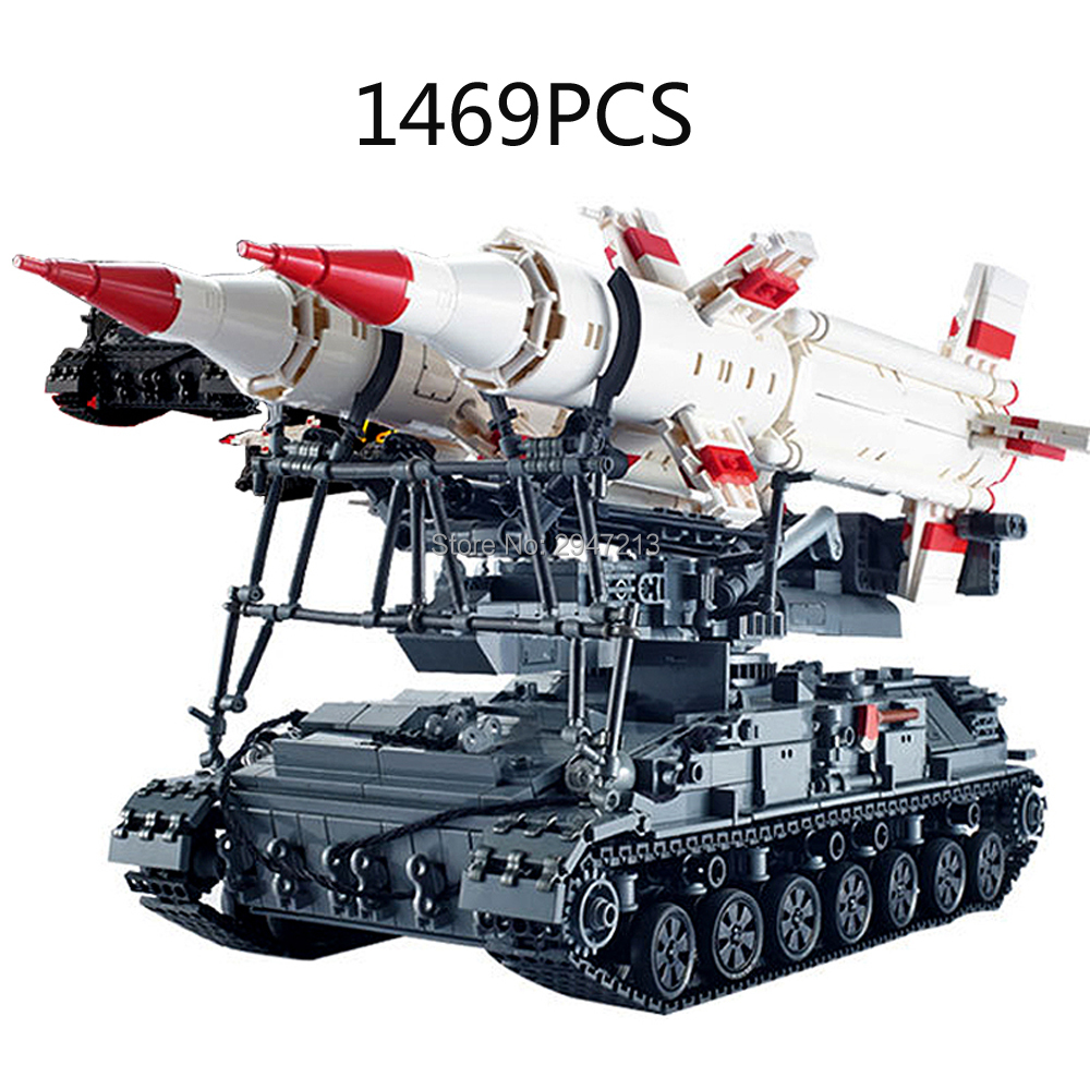 hot compatible LegoINGlys military weapons SA-4 GANEF Soviet Union Heavy tank Sam missile launcher Building blocks modle toys limit discounts trumpeter model 1 35 scale military models 01019 soviet 9p117m1 launcher w 9k72 missile elbrus model kit