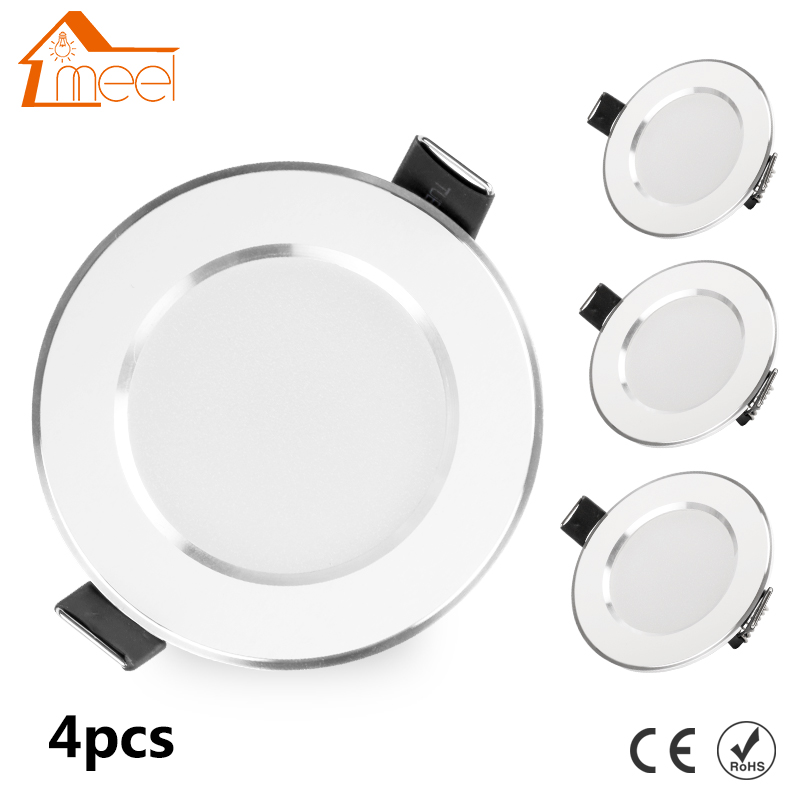 4 pcs 3W 5W 7W 9W 12W 15W LED Downlight 220V 240V Recessed Round LED Lamp Light Indoor Lighting Warm White Cold White