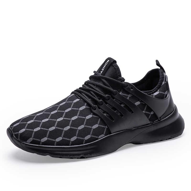 גברים של נעלי ספורט חיצוני הליכה ריצה נעלי ספורט קל משקל עבור גברים שחור לבן ספורט נעלי Dropship גודל גדול 39- 47