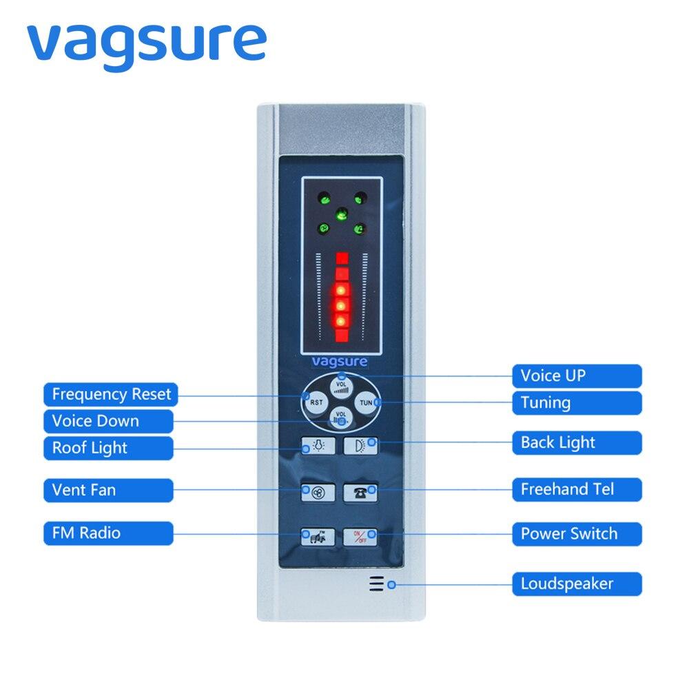 Vagsure 1 pièces ordinateur panneau de commande contrôleur numérique douche haut-parleur à main levée FM Radio ventilateur salle de douche cabine accessoires