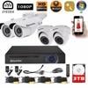 Eyedea 8CH Surveillance DVR Motion Detect Phone View Video Recorder 2 0MP Bullet Dome Waterproof CCTV