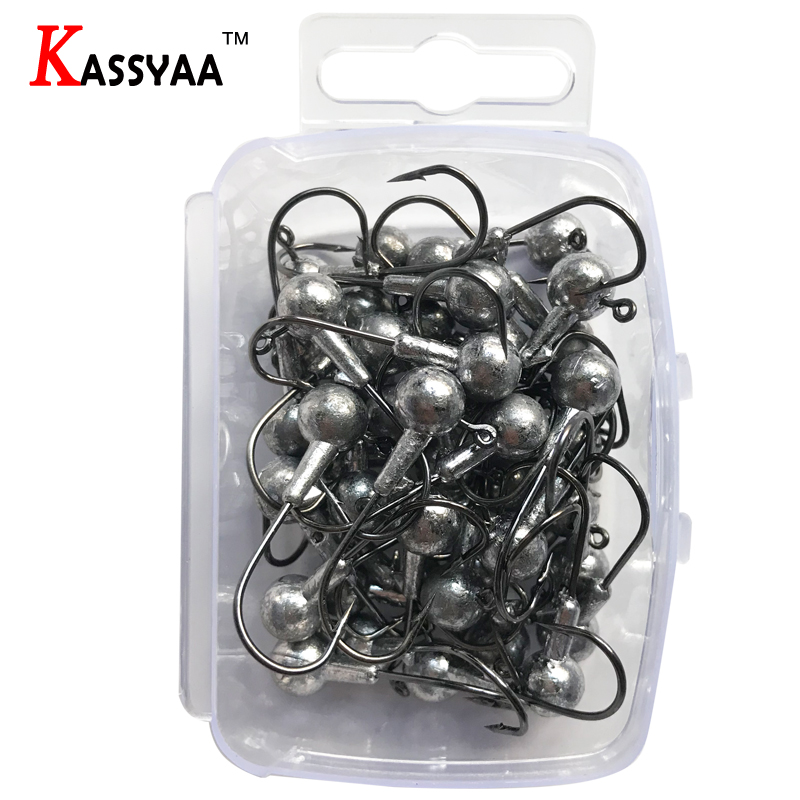 Image 5 - KASSYAA 20 50pcs Jig Head Hook 1g 2g 3.5g 5g 7g 10g 14g 20g Soft Worm Lead Fishing Hooks Jig Lure Fishing Tackle KXY050-in Fishhooks from Sports & Entertainment