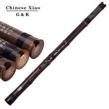 Китайский вертикальный бамбуковый флейта Xiao хроматический музыкальный инструмент G/F ключ dong xiao ручной работы трубы Flauta 8 отверстий с китайским узлом