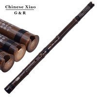 Chinese Vertical Bamboo Flute Xiao Chromatic Music Instrument G/F Key dong xiao Hand Made Pipe Flauta 8 holes with Chinese Knot