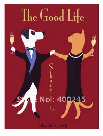 Abstract oil painting wall Decoration The Good Life by Ken Bailey size:24X36inch 100% handmade Free shipping museum qualityAbstract oil painting wall Decoration The Good Life by Ken Bailey size:24X36inch 100% handmade Free shipping museum quality